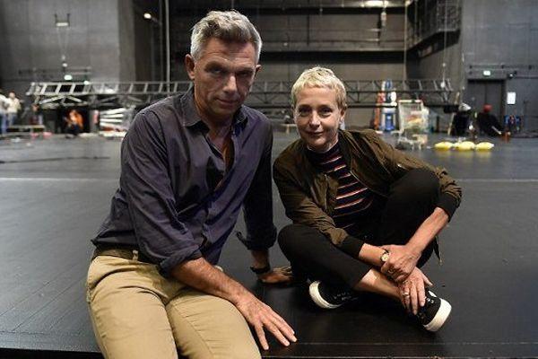 Laurent Pelly et Agathe Mélinand, les deux co-directeurs du Théâtre National de Toulouse (TNT).