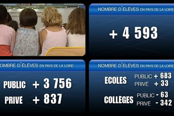 Les chiffres dans la région des Pays de la Loire