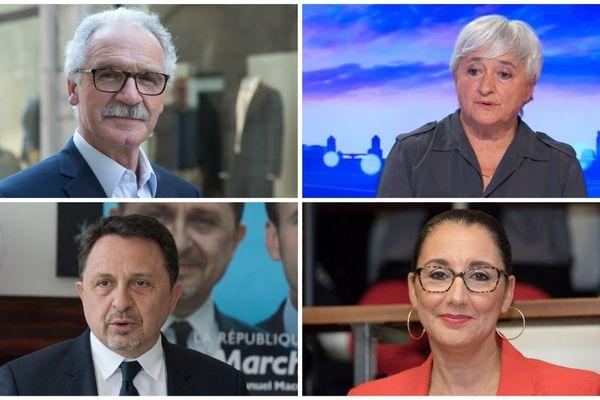 Didier Paris, Yolaine de Courson, Didier Martin et Fadila Khattabi, députés LREM de Côte-d'Or.