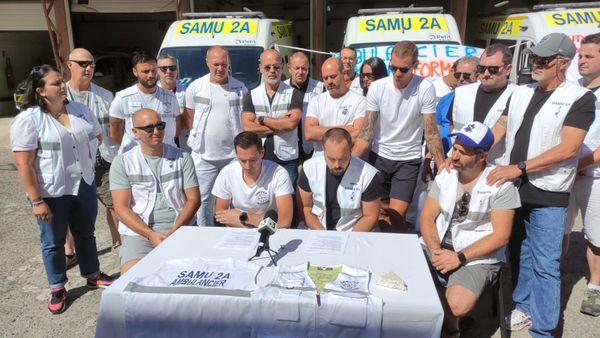 Les ambulanciers hospitaliers 2A sont en grève ce 1er juillet.