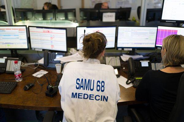 La salle de régulation du SAMU à l'hôpital de Mulhouse