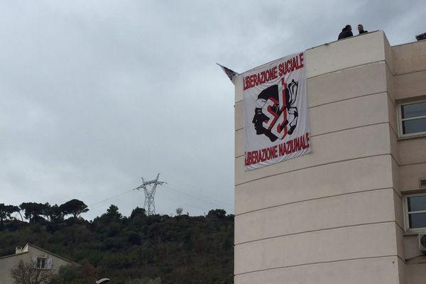 09/11/2017 - Les locaux de l'ARS occupés à Bastia par le STC de l'hôpital de Casteluccio