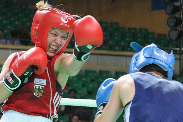 Maiva Hamadouche est triple championne du boxe. Elle est originaire du Tarn.