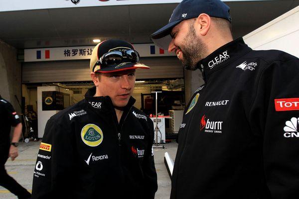 Kimi Räikkönen et Gérard Lopez en 2013.
