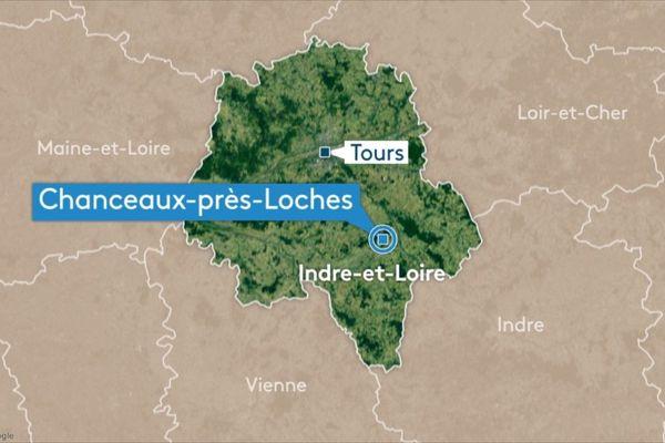 L'incendie s'est déclaré sur le territoire de la commune de Chanceaux-près-Loches.