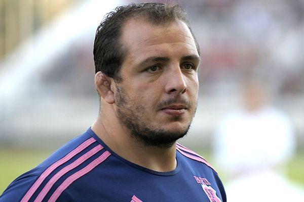 David Attoub, pilier du Stade Français, victime d'un accident de scooter.