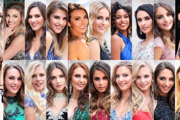 Les 19 candidates au titre de Miss Nord Pas-de-Calais 2018.