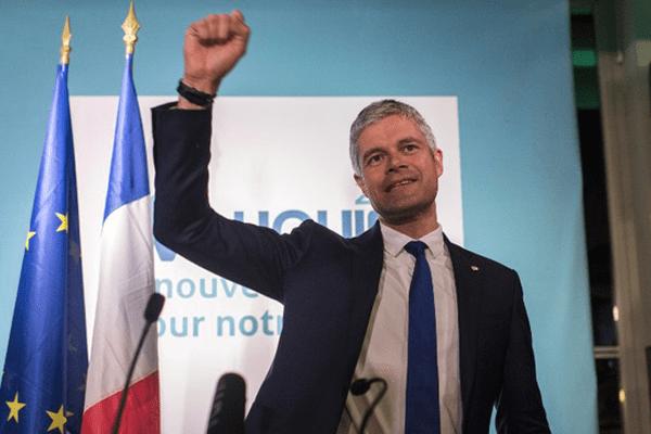 Lauretn Wauquiez à l'annonce des résultats du second tour de scrutin des élections régionales en Auvergne Rhône-Alpes