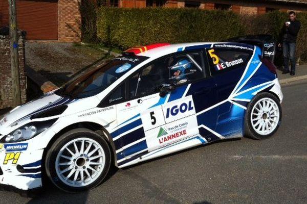 La voiture d'Eric Brunson, 3 fois vainqueur du Rallye du Touquet.