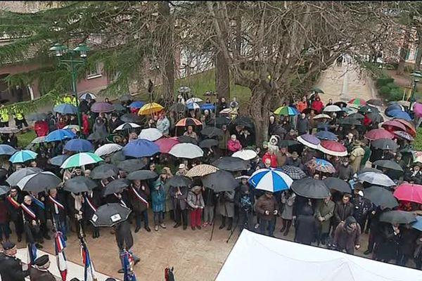 L'hommage des habitants du Cannet des Maures ce mardi