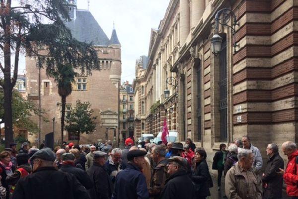 Les retraités toulousains manifestent eux aussi leur mécontentement ce mardi à Toulouse.