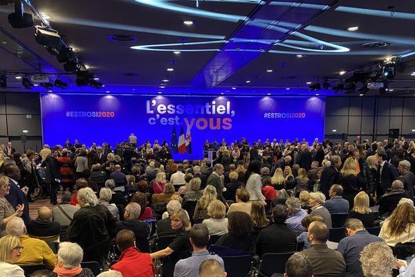 Christian Estrosi à l'Acropolis à Nice le 19 janvier pour sa réunion publique de candidat aux municipales de 2020