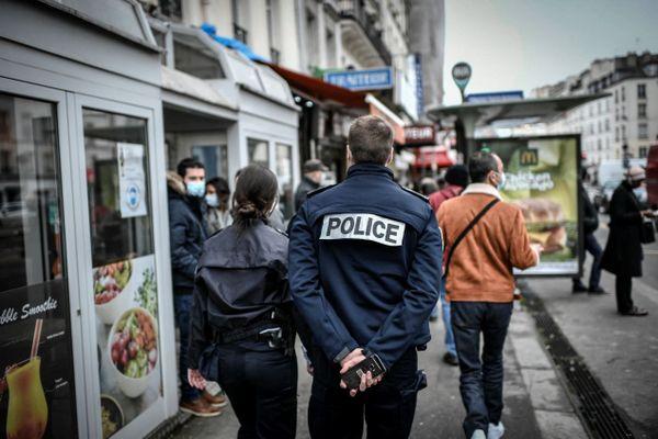 Une patrouille de police, le 3 février 2021 à Paris (illustration).