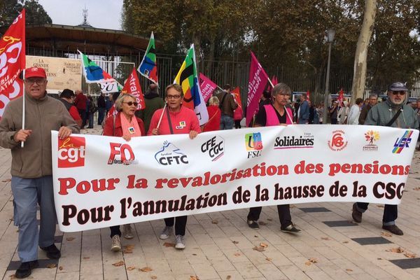 Manifestation des retraités à Montargis (Loiret)