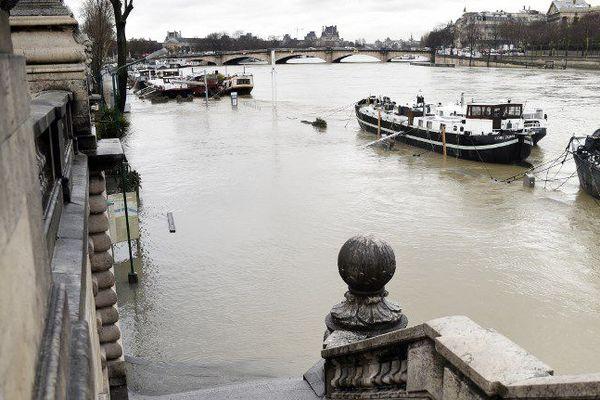 Des quais de la Seine inondés, le 22 janvier 2018.