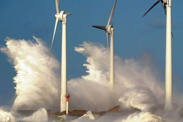 Des éoliennes en mer à Boulogne/mer (photo d'illustration)