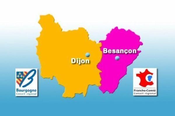 La Bourgogne et la Franche-Comté réunies totalisent à elles deux 2,8 millions d'habitants