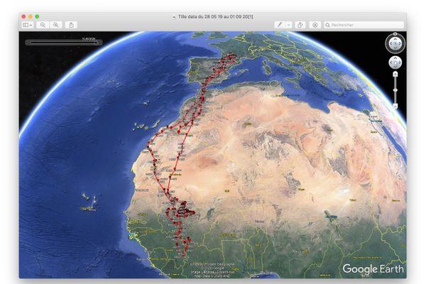 Le parcours migratoire de Tille entre l'Occitanie et l'Afrique