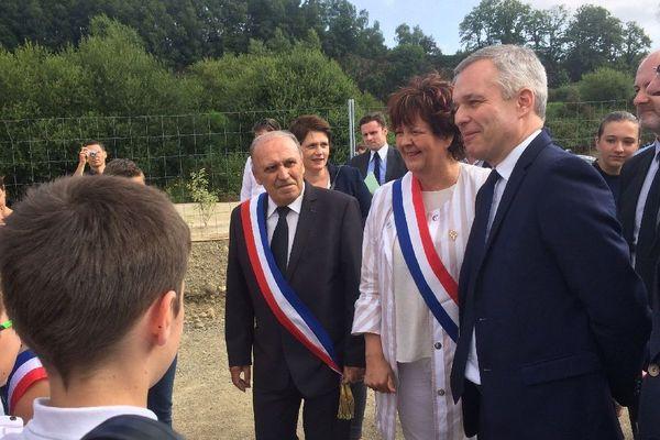 François de Rugy inaugure la centrale solaire de Baud