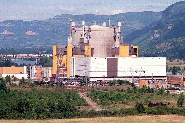 Vue extérieure de la centrale de Creys-Malville