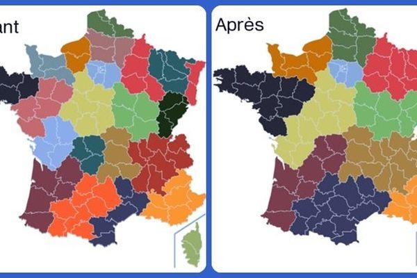 Fusion des régions avant/après ?