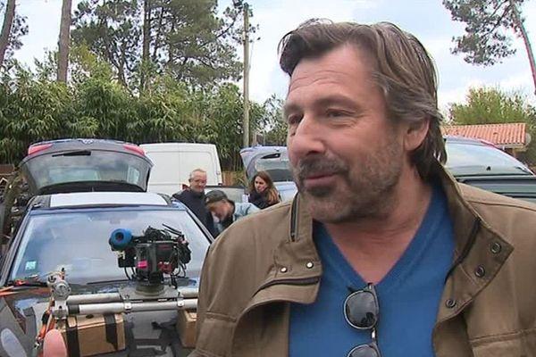 Bernad Yerlès sur le tournage d'Alexandra Ehle à Biscarosse