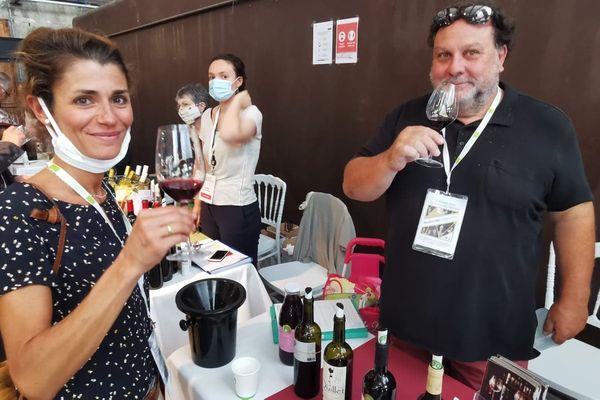 Laurent Cassy, lors du salon des vignerons bio à la Faïencerie de Bordeaux le 31 août 2020