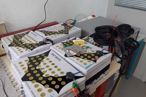 Les fameuses mini-batteries sur lesquelles Inès Jorge accomplit ses mesures.