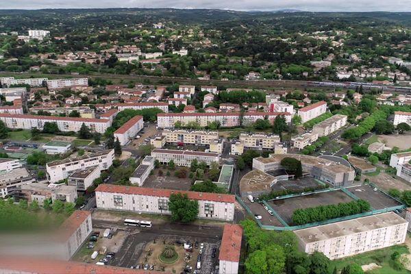 Le quartier du Chemin Bas d'Avignon à Nîmes - septembre 2021.