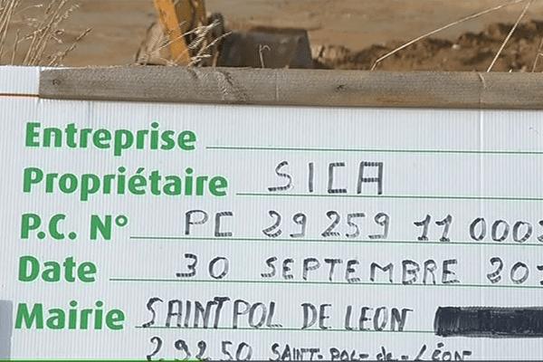 Le premier permis date de septembre 2011