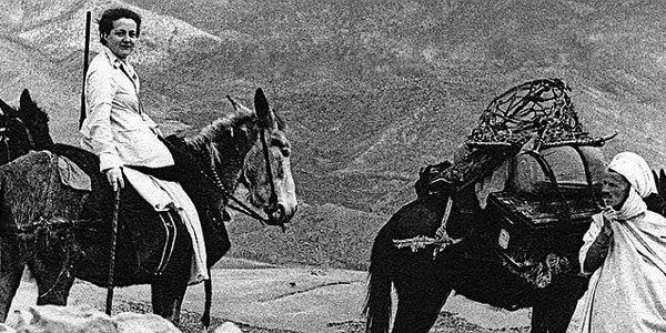 Germaine Tillion en 1935 durant son expédition dans les Aurès en Algérie.