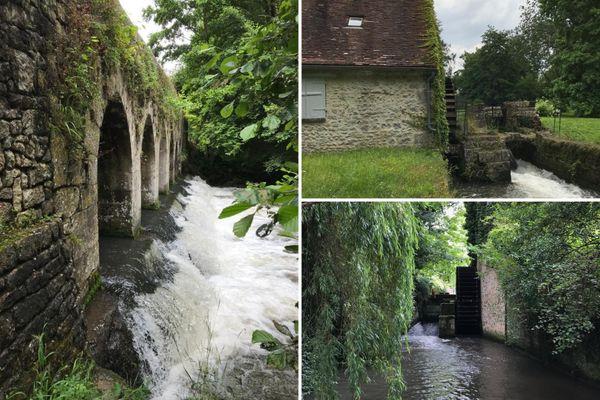 Le pont du Gril de Corbelin et les moulins de Griselles.