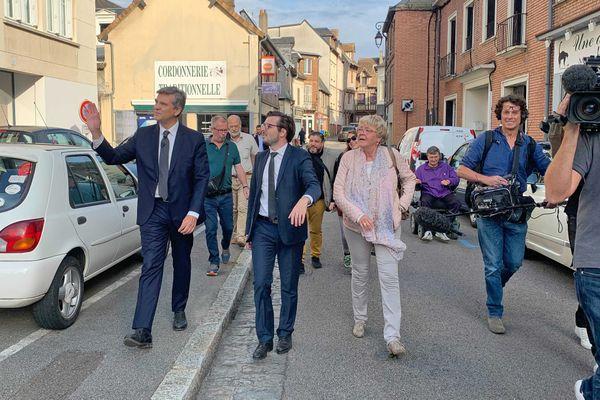18 septembre 2021 : Arnaud Montebourg dans les rues de Louviers (Eure)