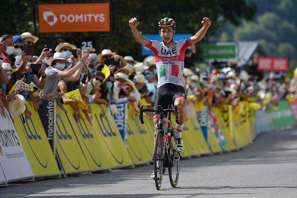L'Italien Formolo franchit la ligne en vainqueur à Saint-Martin-de-Belleville (Savoie)