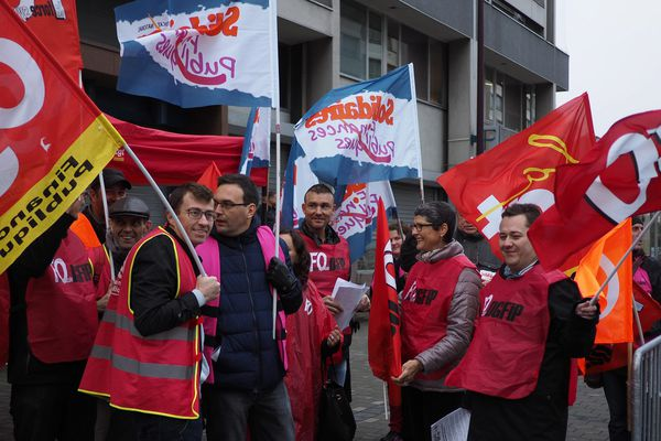 Manifestation des agents des finances publiques à Lille le 17/10/2016.
