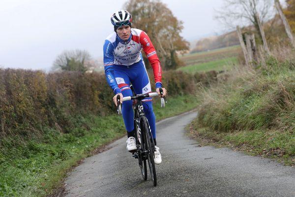 Arnaud Démare à l'entraînement dans l'Oise, en novembre 2019.