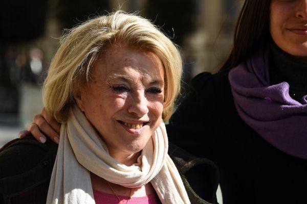 La maire LR d'Aix-en-Provence Maryse Joissains-Masini avec sa fille le 13 mars 2019, à Montpellier.