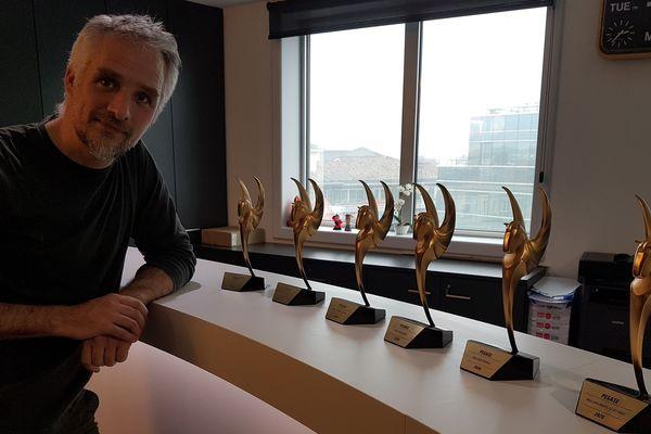 """Les studios bordelais Asobo récompensés par 6 """"Pégase"""". David Dedeine, co-fondateur des studios/ creative director."""