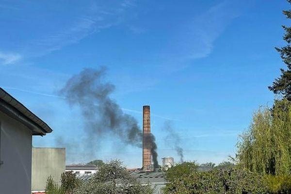 Incendie dans l'entreprise Emmanuel Lang, samedi 8 mai 2021