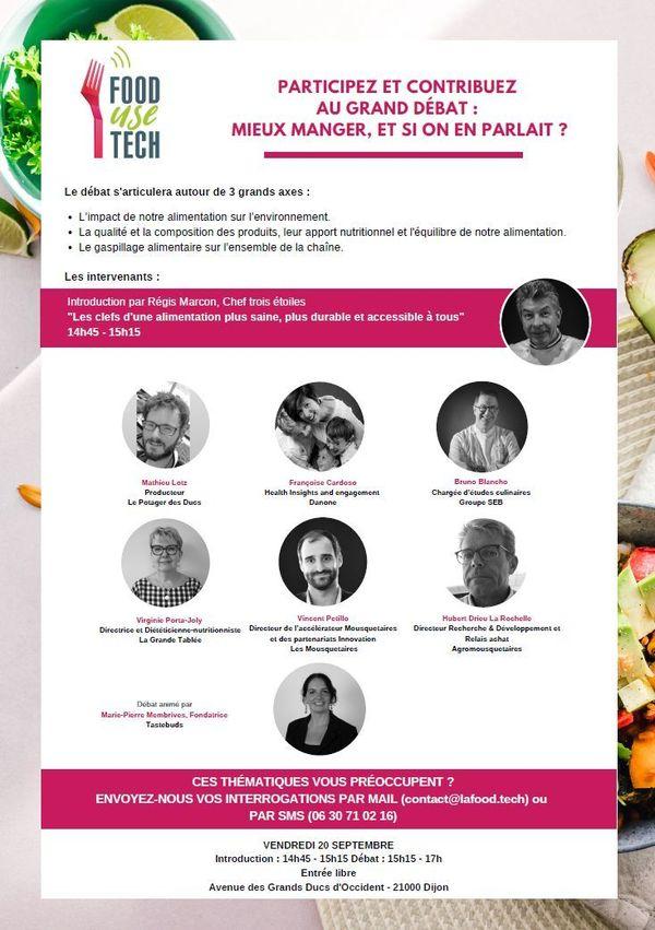 Invitation au Grand Débat du Salon Food Use Tech, vendredi 20 septembre de 15h15 à 17h