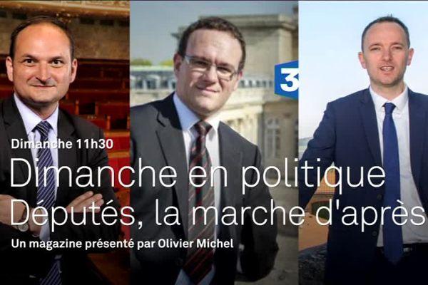Damien Abad, député LR de l'Ain, Régis Juanico, député PS de la Loire et Thomas Gassilloud, député LREM du Rhône
