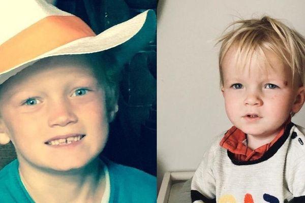 Samuel (9 ans) et Joachim (2 ans) de Calan.