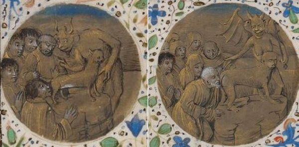 """Montage de deux extraits du """"Traittié du crisme de vauderie"""" (1460)"""