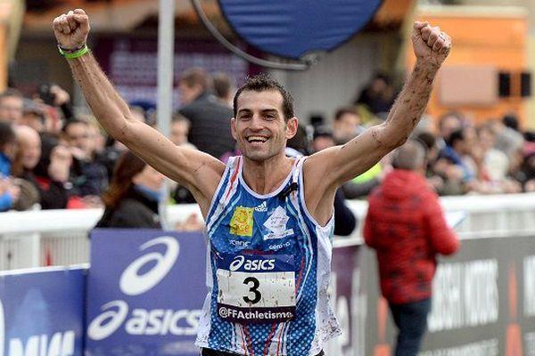 Thierry Guibault à l'arrivée de la course ce dimanche 6 mars.