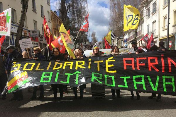 Lorient : manifestation kurde contre Erdogan et l'occupation de la ville d'Afrin - le 31/03/2018