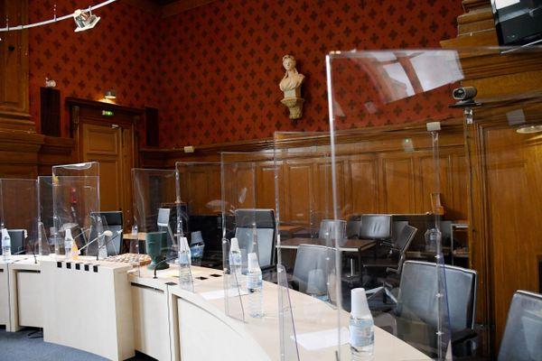 Carcassonne - la salle d'audience - 2020.