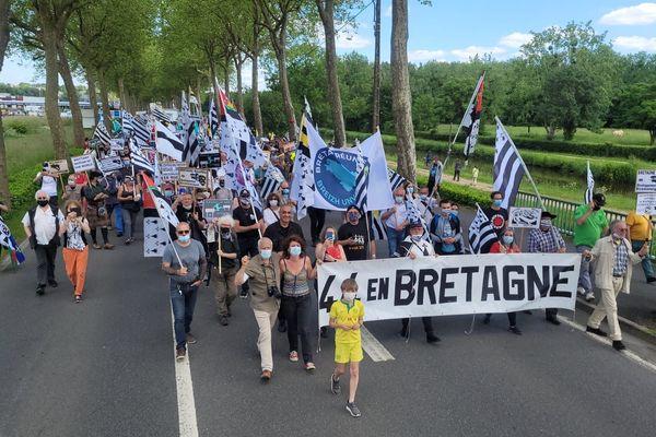 Les manifestants ont défilé à Redon pour une Bretagne à 5 départements avec le rattachement de la Loire-Atlantique