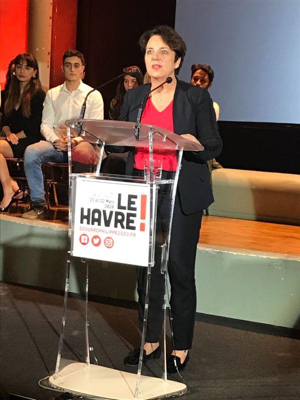 Agnès Canayer, sénateur de Seine-Maritime a ouvert le meeting de campagne.