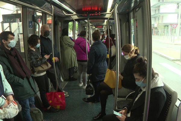 La faible fréquentation du réseau facilite la distanciation physique entre passagers
