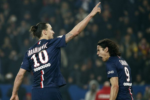 Zlatan Ibrahimovic, auteur d'un triplé face à Lorient.